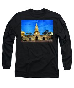 Long Sleeve T-Shirt - The Gate And Clock Tower In Cartagena Colombia