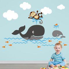 Bebek Ve Çocuk Odası Geniş Konsept Renkli Duvar Sticker BS(141)