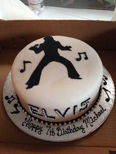 Elvis Presley birthday cake. Elvis Cakes, Elvis Presley Cake, Butter Cupcakes, Cupcake Cakes, Elvis Presley's Birthday, 70th Birthday, Birthday Ideas, Whipping Cream Pound Cake, Lemon Layer Cakes