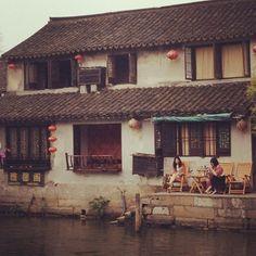 Afternoon Tea på en veranda i Xitang