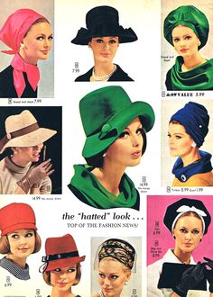 60's hat fashions