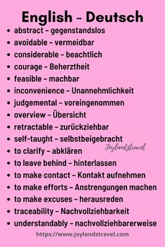 english vocab - english and german vocab German Grammar, Learn English Grammar, German Words, Learn English Words, English Vocabulary, English Lessons, Study German, German English, Learn German