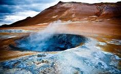... volcanic crater