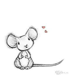 cartoon mouse drawing with heart - Google Search