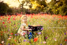 love the wild flowers and the piano Piano Photography, Outdoor Photography, Creative Photography, Children Photography, Photography Ideas, Family Photography, Portrait Photography, Toddler Pictures, Girly Pictures