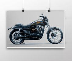 Poster - Ilustração Harley por Leonardo Castilho