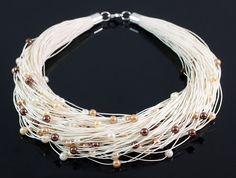Necklace - glass pearls von Nor Art auf DaWanda.com