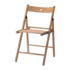 IKEA - TERJE, Krzesło składane, Krzesło można złożyć, aby zajmowało mniej miejsca, kiedy nie jest używane.Otwór w oparciu umożliwia powieszenie krzesła na ścianie, aby zajmowało mniej miejsca, kiedy nie jest używane.