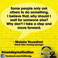 Your #MondayMotivation today should be from Malala Yousafzai – not only is she the youngest ever Nobel Prize winner; she's also great at inspiring us!