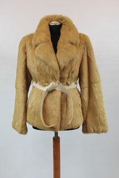 Karmelowa kurtka z królika - model SIMPI, rozmiar 42.  Cena: 590 zł