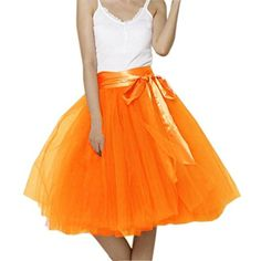 dec80f94eb EllieHouse Womens Short Tutu Tulle Skirt With Sash Orange Size 4XL PC06 *  BEST VALUE BUY