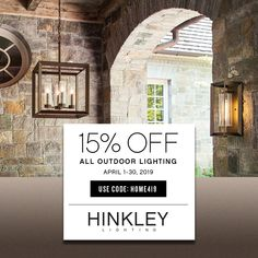 Save 15% Plus Free Bulbs When You Say Found Us On Pinterest. Media Wall, Hinkley Lighting, Outdoor Lighting, The Hamptons, Bulbs, Free, Lightbulbs, Exterior Lighting, Bulb Lights