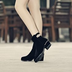 Round Toe Ankle Boots Women Shoes Fall|Winter 9520