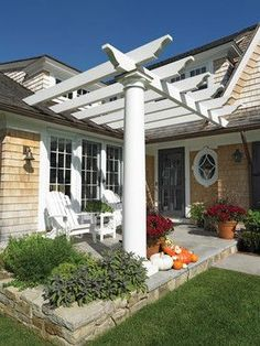 Spiffing Up A Plain Jane Home: No Porch Issue