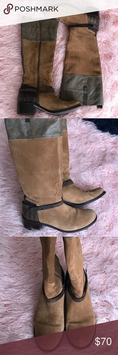 Nola Boots BEAUTIFUL Brazilian Leather Matisse riding boots with a heel!! Size 9.5 in cognac/brown. Only worn a handful of times but still in great condition. They do have a scuff on the toe of the left boot (can be seen in 3rd pic). Matisse Shoes Heeled Boots