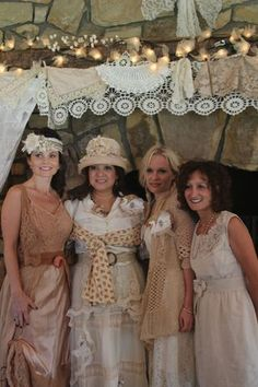 What lovely dresses for an old fashioned wedding...