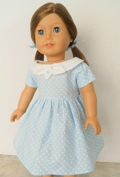 1950s Vintage Doll Dress - American Girl Doll Clothes and Accessories - 1072