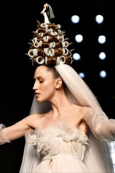 Roller crown at Jean Paul Gaultier Couture