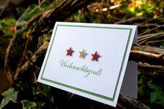 Weihnachtskarte mit Sternen, Stampin`UP!
