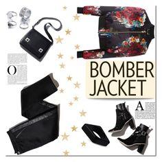 """Bomber Jacket"" by tatajrj ❤ liked on Polyvore featuring Philipp Plein, TROA and Marni"