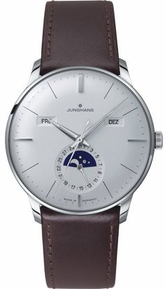 @junghansgermany  Watch Meister Calendar #add-content #bezel-fixed #bracelet-strap-leather #brand-junghans #case-depth-12mm #case-material-steel #case-width-40-4mm #date-yes #day-yes #delivery-timescale-call-us #dial-colour-silver #gender-mens #luxury #mo
