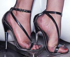 Zaffiro e Acciaio (Posts tagged strappy sandals) Pantyhose Heels, Stockings Heels, Sexy Heels, Stiletto Heels, Beautiful High Heels, Women's Feet, Black High Heels, Fashion Heels, High Heel Boots