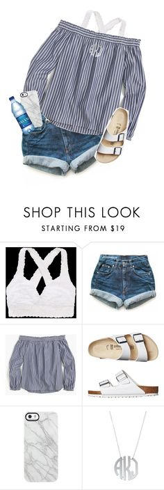 """waters"" by sophie-dye ❤ liked on Polyvore featuring Aerie, Levi's, J.Crew, Birkenstock and Uncommon"
