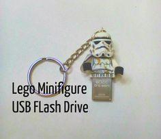 DIY Lego Minifigure USB Flash Drive #lego #usb #flashdrive