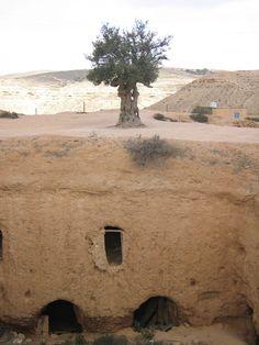 Ancient underground house in Guryuan, Libya