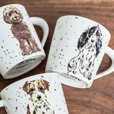 Beautiful ceramic artistic dog mugs. Show your love for our best friends with these stunning dog mugs. Europe Fashion, Dog Design, I Love Dogs, Ceramics, Mugs, Tableware, Creative, Europe Style, Free Shipping