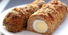 Рецепт приготування м'ясного рулету з яйцем
