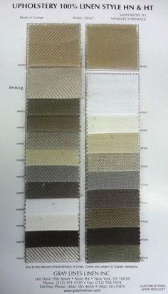 HN&HT Upholstery Linen - Gray Lines Linen, Inc.