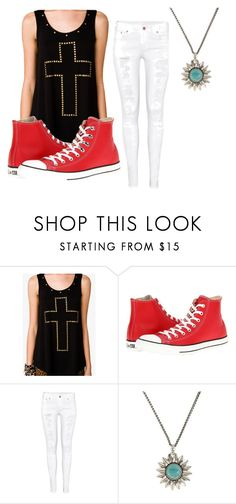 """paul-date"" by zoeyshy ❤ liked on Polyvore featuring Forever 21, Converse, H&M and Lucky Brand"