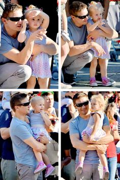 Jeremy Renner and his daughter, Ava <3 #cuteness