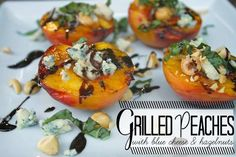 The Shutterbean Grilled Peaches with Blue Cheese Recipe is Mouth-Watering #grilledcheese trendhunter.com