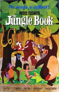 High quality reprinted movie poster for Disney's The Jungle Book from 1967. 11 x 17 inches on card stock.