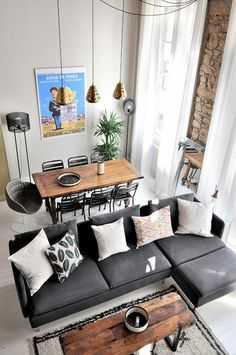 Charming Modern Open Living Room Ideas Man, it's one massive countless studying! You is perhaps stunned to know that Geor… – Living Room Small Apartment Living, Small Living Rooms, Living Room Designs, Duplex Apartment, Modern Living, Minimal Apartment Decor, Small Living Dining, Apartment Renovation, Apartment Interior Design