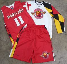 Get Lacrosse shorts and lacrosse uniforms.  Made to order in Maryland USA.