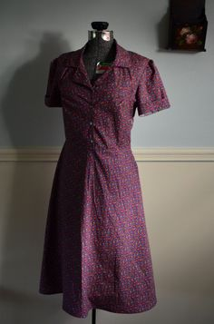 Retro Dress in Purple 6 / small / S by LetsBacktrack on Etsy, $68.00