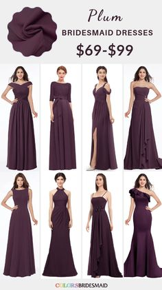 Jul 2019 - Purple and Grey Fall Wedding Color Inspiration: White bride with bouquets in shades of purple, Bridesmaids in purple dresses, grey suits and purple ties for groom and groomsmen, grey table linens with purple napkins… Plum Wedding, Wedding Colors, Fall Wedding, Wedding Ceremony, Lilac Bridesmaid Dresses, Wedding Dresses, Plum Dresses, Royal Blue Bridesmaids, The Dress