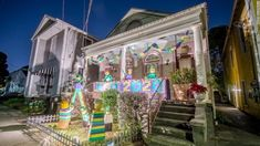 Mardi Gras parades got canceled by Covid-19. So, New Orleanians turned their houses into floats - CNN Meanwhile In America, Grateful Dead Dancing Bears, Mardi Gras Parade, Mardi Gras Costumes, Festival Costumes, Crescent City, Far Away, House Painting, First Night