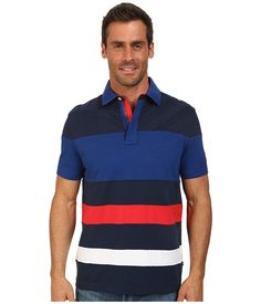 Nautica Short Sleeve Multi Media Polo