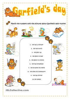 ESL for Emma: Garfields daily routine