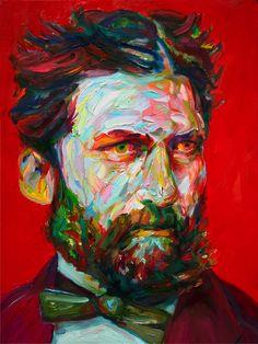 "Aaron Smith,Gammy, oil, 2014, 24"" x 18"" http://aaronsmithart.com/work/new-work/"