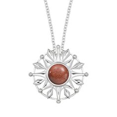 Kameleon Sterling Silver Compass Style Pendant $49. Shown with Ginger Beer Jewelpop. (Sold Separately) Both IN-STOCK at BECKER JEWELERS.