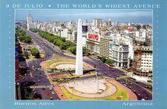 Avenida Nueve de Julio. Buenos Aires.