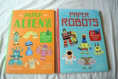 Paper Aliens and Paper Robots Books review #kidsbooks #models #games