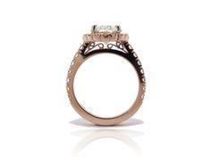 custom rose gold 2.5ct hand made ring