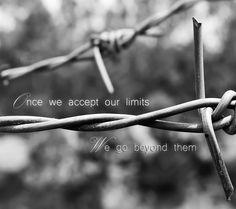 Go beyond them. Winner Wednesday!  #wednesday #winnerwednesday #acceptyourlimits #gobeyondthem #limitless #barbedwire #attitudechangeseverything #blackandwhite #motivation #transformation #adventuresofjac