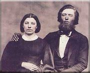 "Caroline and Charles Ingalls, ""Ma"" and ""Pa"" of the ""Little House on the Prairie"" books"